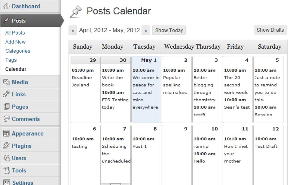 wp-calendar